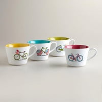 Bicycle Mugs, Set of 4 | World Market