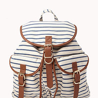 Nautical Striped Backpack