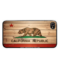 iPhone 5 California Flag Wood Print CA Flag iPhone by 1VintageSoul