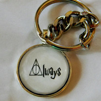 Always Deathly Hallows Keychain. Harry Potter Inspired Keychain.