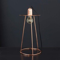 Sputnik Table Lamp In Copper