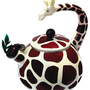Animal Kettle 2.5 Quart Whistling Enamel on Steel Giraffe Tea Kettle