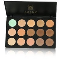 Shany Cosmetics Professional Cream Foundation and Camouflage Concealer 15 Color Palette, 13 Ounce