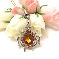 Accessorize your phone with a Heart Shaped Spider Cell Phone Charm Starp for a cute new look!