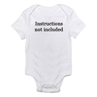 Instructions Not Included Embroidered Baby Onesuit by MyOliveFlower