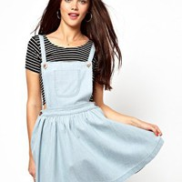 Primark Denim Pinafore Skater Dress at asos.com