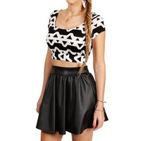 BlackIvory Short Sleeve Cropped Top