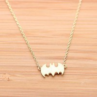 [grxjy5100045]Golden Batman Necklace