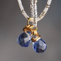 Handmade Something Blue Briolette Bridal Necklace with double strand   peaceloveandallthingsjewelry - Wedding on ArtFire