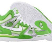 Nike Womens Air Digs High (mean green / white / metallic silver) 344343-311