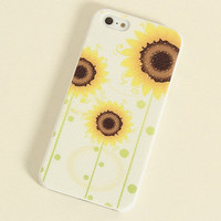 Sunflower Frosted Painting Phone Case For iPhone 4/4S iPhone 5