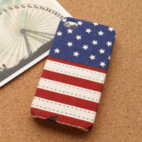 Handmade USA Flag Fabric Phone Case