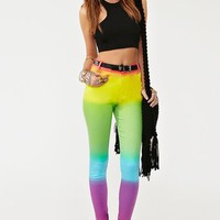 Jordan Skinny Jeans - Rainbow in What's New at Nasty Gal