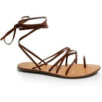 Andres Machado Brown Greek Roman Sandals (10)