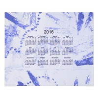 Old Blue Paint 2016 Wall Calendar Poster from Zazzle.com