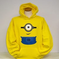 Despicable me minion clothing hoodie hooded sweatshirt