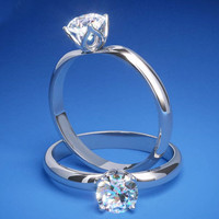 Engagement Ring - Tulip Round Diamond Solitaire Engagement Ring - ES783WG
