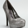 Pewter Glitter Pump