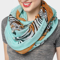 Mint Zebra Scarf | Shop Printed Scarves now | fredflare.com