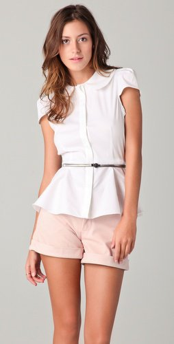 Alice + Olivia Patsy Peplum Top | SHOPBOP