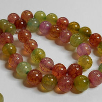 Watermelon Natural Agate Gemstone Beads 8MM