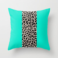 Leopard National Flag II Throw Pillow by M Studio