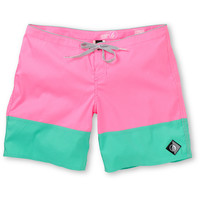 Volcom Girls Sparrow 7 Pink & Mint Board Shorts at Zumiez : PDP