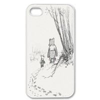Apple iPhone 4 4G 4S Cute Winnie the Pooh Piglet Friends Forever Retro Vintage WHITE Sides Case:Amazon:Cell Phones & Accessories