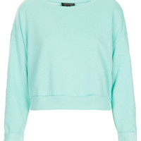 Crop Sweat - Jersey Tops - Clothing - Topshop USA