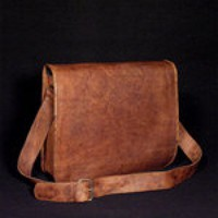 Large Pure Genuine 18 inches/inch Padded Handmade Soft Leather Unis...... | GenuineProducts - Bags & Purses on ArtFire