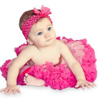 3 Piece Set: EXTRA FLUFFY, Pink and Hot Pink Tutu/ Headband/ Bow (18 to 36 months)