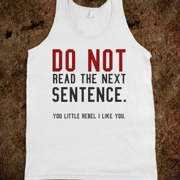 Do not read tank top tee  t shirt