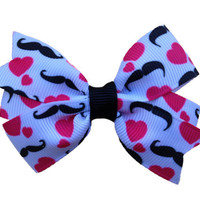 Adorable mustache hair bow - love mustache bow