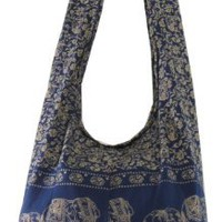Amazon.com: Navy Hippie Hobo Boho Vintage Elephant Sling Cotton Yam Buddha Crossbody Shoulder Messagenger Bag Purse Tote EA08: Clothing