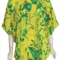 Greenecastle Vintage Cape Style Pleated Blouse XL