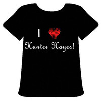I Love Hunter Hayes TShirt Free Shipping by PoshBlingBoutique