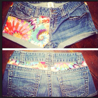Tiedye denim shorts by AngeliqueMerici on Etsy