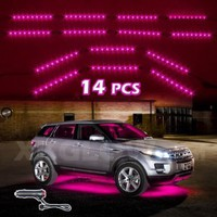PINK 14pcs Three Mode LED Undercar Neon Accent light Kit Waterproof Ultra Bright + Plug & Play All Accessories Included:Amazon:Automotive