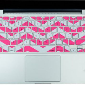 "Amazon.com : Kuzy - Pink Chevron Zig-Zag Keyboard Cover for MacBook Pro 13"" 15"" 17"" Aluminum Unibody (fits MacBook with or w/out Retina Display) iMac and MacBook Air 13"" Silicone Skin - Pink : Computers & Accessories"