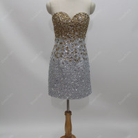 Prom Dress/Beading Prom Dress/Cocktail Dress/Short Cocktail Dress/Informal Short Dress/Short Homecoming Dress/Homecoming Dress