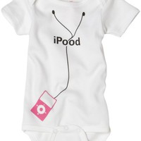 Sara Kety Baby-boys Newborn Ipood Infant Short Sleeve Bodysuit, Pink, 0-6 Months