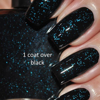 Bar Fight Black and Blue Nail Polish 5ml Mini by TheHungryAsian