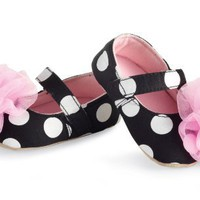 Mud Pie Baby-girls Newborn Rosette Mary Janes, Multi, 6-12 Months