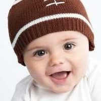 Mud Pie Baby-boys Infant Football Hat, Brown/White, 0-12 Months