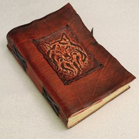 Wolf Journal. Leather Notebook. by GILDBookbinders on Etsy