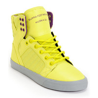 Supra Womens Skytop Neon Yellow Nylon Shoe at Zumiez : PDP