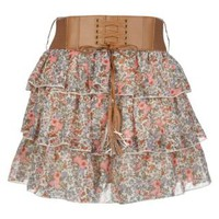 New Look Mobile | Petite Blue Floral Ditsy Print Belted Skirt
