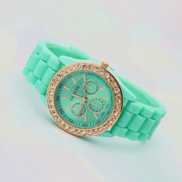 Mint Color Silicone Watch J002