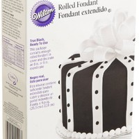 Wilton Ready-to-Use True Black Rolled Fondant, 24-Ounce