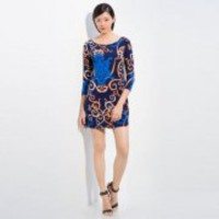Bqueen Color knit Print Dress EP063E - Designer Shoes|Bqueenshoes.com